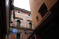(SofiDofi) Tags: city travel italy corner buildings march europe exploring bologna traveling terra spring2013