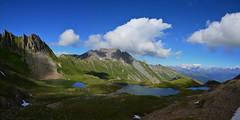 Three Lake Panorama (Pierre LeCaillou) Tags: panorama cloud mountain lake 3 landscape nikon pierre stiched arcsoft d3200 8photos lecaillou