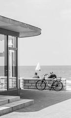 Quiet (mare-photos) Tags: sea people bw water bicycle de meer wasser pentax streetphotography sigma menschen sw fahrrad k7 strasenfotografie