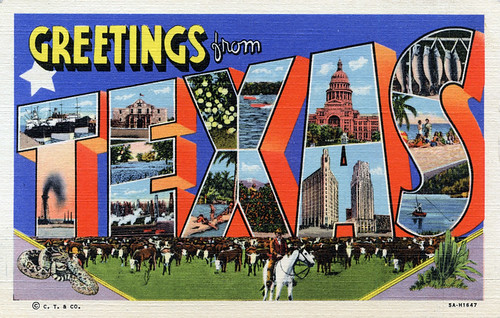 Greetings from texas large letter postcard a photo on flickriver greetings from texas large letter postcard m4hsunfo