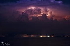 Apollo Beach power plant (Dennis Cluth) Tags: night florida lightening apollobeach