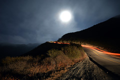 Into the Moonlight (DirtyBootPrints) Tags: auto california road ca street travel light moon mist west abandoned love beautiful beauty car fog night rural wow landscape rising drive evening us nikon marine alone glow shine bright being tripod go twist move full doing reflect layer glowing feeling nikkor rise curve gloaming 10pm livivng