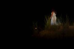 Distant Wondering (Elise Weber) Tags: door blue light orange art alex sarah night kyle dark glow elise earth surreal dirt ann conceptual thompson trap weber stoddard loreth