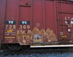 KERSE (YardJock) Tags: graffiti spraypaint boxcar bombing amfm freighttrain sfr railwaytracks