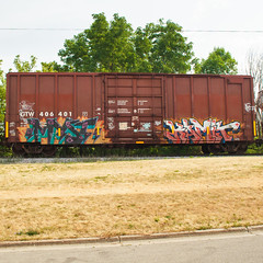 Myst Kamit (This Car Excess Height) Tags: art cn train bench graffiti railcar vandalism boxcar freight myst benching kamit