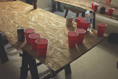 (Colin Robison) Tags: world costumes red party house college sc halloween beer houseparty costume south wayne parties partying charleston cups pingpong carolina waynes fujifilm campbell pong garth beerpong flipcup algar waynesworld x100s