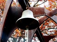 Ring the bell (pilechko) Tags: autumn sky sculpture tree art fall bell stormking hudsonvalley