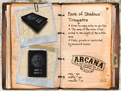 Book of Shadows Trinquetra (Morgana Brid) Tags: life book shadows witch library magic decoration libro sombra books second marketplace libros wicca magia bruja librera decoracin