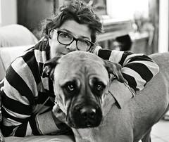 momenti impagabili (Claudia Gaiotto) Tags: woman dog love zoe irene amica affinitelettive mimancatetroppo lamattinaacazzeggiareincasa unadonnaelasuabullmastiff