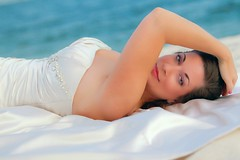 Beach Bridal Shoot 2011', blue-eyed sultry reach laying on the beach!
