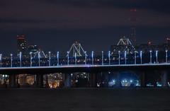 invisible commutes (pbo31) Tags: california bridge november motion black color night nikon baybridge sutro eastbay d200 80 emeryville lightstream 2013