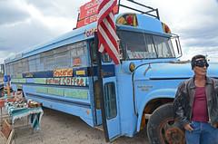 Roadside Trinket Sellers (brwailes) Tags: blue bus businessman store taos roadside entrepreneur