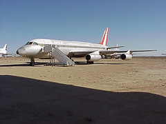 N990AB  Convair 990  APSA  KMHV  20020120 (✈ concord⁹⁷⁷) Tags: california ca usa airport aircraft jet mojave airline apsa mhv 20020120 kmhv convair990 n990ab mojaveairandspaceport 04015001 31662