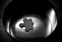 The last piece of the puzzle (primitiveprobe) Tags: leica bw last tin blackwhite cookie gingerbread can puzzle 365 piece x1
