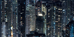 Mid-levels (Wim Storme) Tags: city longexposure night hongkong dense