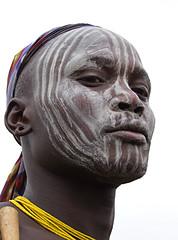 Mursi Warrior (Olivier DARMON) Tags:  plateau tribal ornaments tribes warriors ethiopia tribe mursi femmes labret ethiopie peuples omoriver oublis lipplates  thiopienetiopaethiopietiopiaetipiaetiopienetiopijaetiyopya thiopienetiopaethiopietiopiaetipiaetiopienetiopijaetiyopya lasttribes