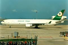 EVA Air Cargo, McDonnell Douglas MD-11F, B-16108, Macau International (Dennis HKG) Tags: plane airplane airport eva br aircraft cargo macau freighter md11 mfm mcdonnelldouglas evaair planespotting vmmc b16108