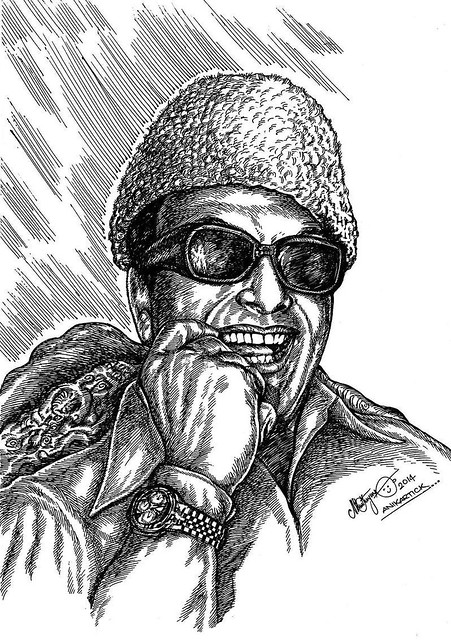MGR - M.G.RAMACHANDRAN - Puratchithalaivar - PonmanaSelvan - Great Actor - Director - Producer - Late CM of Tamil Nadu,Founder of AIADMK Party - Drawing - Paint