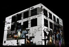 Enlighten Festival Canberra 2014 - Questicon (Anna Calvert Photography) Tags: pictures show night buildings lights australia canberra walls lightshow 2014 questicon enlightenfestival