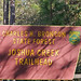 Joshua Creek Trailhead Sign
