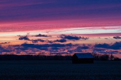 Last Lights (ramseybuckeye) Tags: life road county light ohio sky sun art last colorful allen pentax shed fields bussert