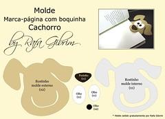 Molde especial!! marca pgina de boquinha - cachorro (Feito a mo [by Rafa]) Tags: cute diy felt feltro fofo molde fieltro marcapgina faavocmesmo