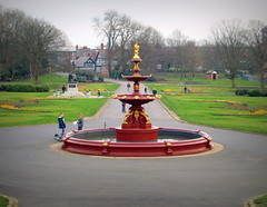 Mesnes Park in Wigan - 4 (Tony Worrall) Tags: park county uk england fountain outside town colours play place northwest north victorian visit location lancashire your ornate northern past relics wigan mesnespark 2014tonyworrall