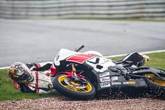 Paul Jeffery at Oulton Park (james.archibald) Tags: wet race speed track crash accident fast motorbike yamaha quick r6 oultonpark 600cc ngroadrace