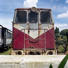 Dalat Station - Vietnam (waex99) Tags: film train rust kodak rail vietnam hasselblad portra cuchi saigon chemin fer planar 400iso rouille 500cm 80mmf28 2013 dallat