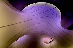 Curved Space (Sean Batten) Tags: mathematics sciencemuseum wintongallery london england unitedkingdom gb nikon d800 1424 purple museum lines curves zahahadid southkensington abstract architecture