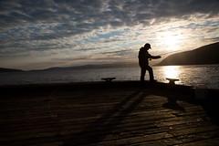 Mackerel fishing at sunset. (photo: Steve Wadden)