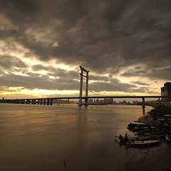 Jinjiang bridge sunset.(_B013935_7_2+) (Minaol) Tags: china fujian quanzhou jinjiang bridge sunset 泉州 刺桐古城 晋江大桥 霞光 晚霞