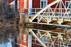 Reflections (fotoannica.se) Tags: redhouse water reflection home march sun bridge