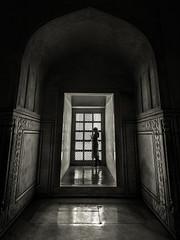 Endless  Wait  -  Agra, India (Kartik Kumar S) Tags: tajmahal taj agra uttarpradesh india blackandwhite mughal canon 600d tokina 1116mm light shadows geometry