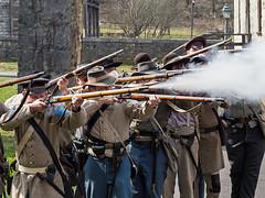 IMGPJ00507C_Fk - Spring Mill State Park - Winter Civil War Encampment (David L. Black) Tags: civilwarreenactment springmillstatepark stateparks idnr olympusomdem1mkii olympus40150f2814xtc