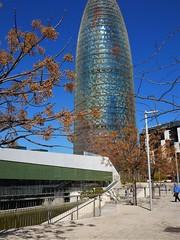 CATALUNYA, BARCELONA,PLAÇA DE LES GLORIES (poncar03) Tags: catalunya barcelona plaçadelesgloriescatalanes museuhub torreagbar bassal jardins arquitectura architecture reflejos reflexes