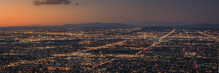 Phoenix panorama by night