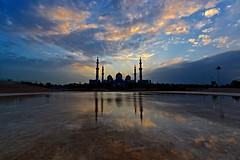 Colours (Sanjiban2011) Tags: abudhabi uae unitedarabemirates sheikhzayeedgrandmosque silhouette reflection waterreflection waterscape waterbody clouds cloudscape sky nature outdoor wideangle nikon d750 fullframe tamron1530