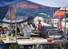 Bibingka (Beegee49) Tags: street food vendor cookiing lady cart oven bibinka rice cake bacolod city philippines