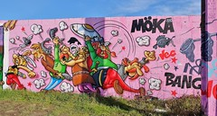 Graffiti La Rochelle Aytré, mur DBMA (thierry llansades) Tags: graf graff graffiti spray aerosol painting bombing larochelle aytré dbma angoulins mur wall mural aunis poitou graffs graffitis art streetart