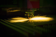 Cutting of sheet metal process (Patrick Foto ;)) Tags: action auto automated burn cnc cut danger energy engineering equipment factory fire first flames heat high hot industrial industry job laser machine machinery machining manufacture manufacturing mechanical melting metal metalwork micro micron nozzle plasma plc precision processing production safety sheet spark steel technology tool welding work workpiece workshop bangkok krungthepmahanakhon thailand th