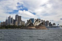 Sydney CBD and Opera House... (A R I A) Tags: sydney australia australian sydneyharbour sydneyoperahouse sky clouds ocean harbour city cityscape landscape canon canon5d canon5dmark3 flickr operahouse circularquay