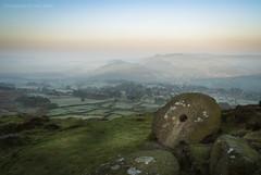 Curbar Mist (marc_leach) Tags: landscape misty peakdistrict millstone curbaredge rocks green uk nikon