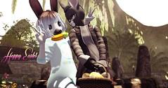 Happy easter , bunnies ~ Moonie and Chris (Moonie Ghanduhar - Client List Closed) Tags: easter secondlife sl virtualworld love bunny rabbit moonieghanduhar stryker chrisishere2013resident bunnies 3d avatar happyeasterbunnies