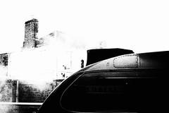 Communicators - nose to nose (newshot.) Tags: nikon d700 zeiss planart1450 zf2 scotland steam railways highcontrast blacks shapes composition curves placement a4 bittern perth locomotive chimney