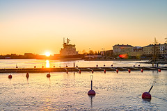 Sunrise at Katajanokka, Helsinki, Finland (johnlsl) Tags: sunrise katajanokka helsinki finland