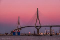 Puente de la Pepa, Cádiz. (iperezmarin) Tags: arquitectura hora azul luna moon cadiz puente mar cielos sunset