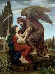 Evelyn De Morgan - The Angel of Death, 1880 (Anna Deneau) Tags: painting allegorical angelofdeath preraphaelite evelyndemorgan