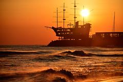Jeongdongjin #1 (daniel0027) Tags: flamingsunrise sunrise shipshapecafe earlymorning waves eastsea sea jeongdongjin gangwondokorea sailingboat