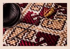 embroidered (Marco Di Ferrante) Tags: macromonday clothtextile macro zuiko om 3570 f4